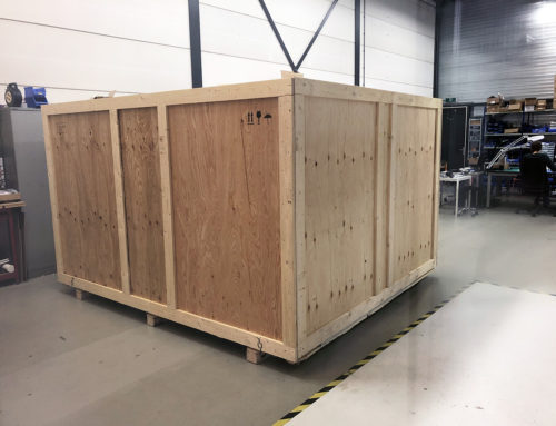 Shipping a full motion flight simulator