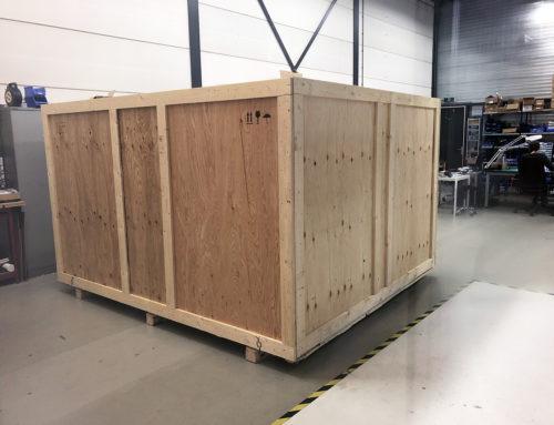 Shipping a full motion flight simulator